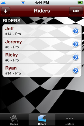 RaceTrackerMX iphone app